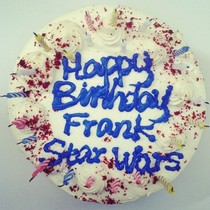 We asked Safeway to make a Star Wars cake for our editor Frank This is what they gave us