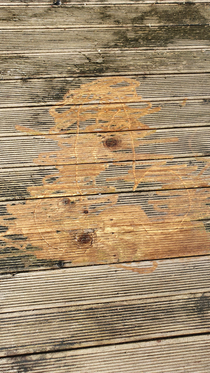 We bought a power washer to clean the deck The first thing my other half drew was thisexcept the pressure was too high and its now etched into the wood