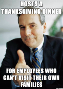 We have a lot of foreign employees and not everyone has family to spend the holidays with