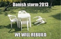 We have a storm in Denmark right now and the media is going crazy This is all I could think of