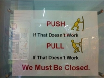 We must be closed