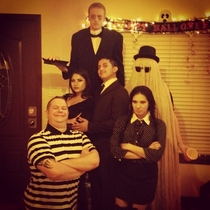 We nailed our group costume this year Addams-style