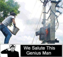 We salute this man