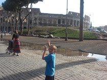 We saw the Coliseum the day after seeing the Leaning Tower of Pisa- my kid was unclear on the difference