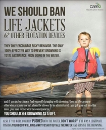 We should ban life jackets and other flotation devices