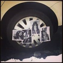 We slashed our friends tires on April Fools Day