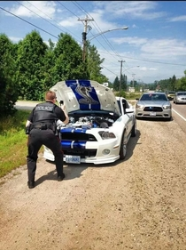 We take being pulled over seriously here in Canada