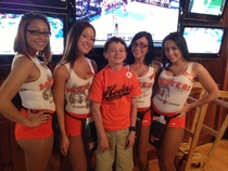 We took my  year old cousin to Hooters for the first timeId say he enjoyed it