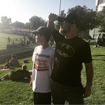 We were supposed to be Batman and Robin I guess he didnt hear me