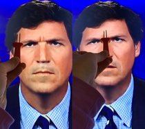 We were watching Tucker Carlson and I noticed something I cant unsee it now