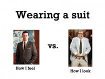 Wearing a suit