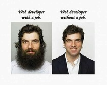 Web developer before and after