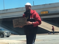 Welcome to Austin our panhandlers are very honest