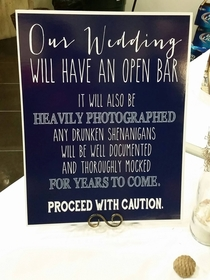 Well at least my cousin TRIED to keep people in check at her wedding reception