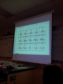 Well played Mr Chemistry teacher well played
