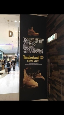 Well that depressing Timberland
