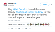Wendys with the burn