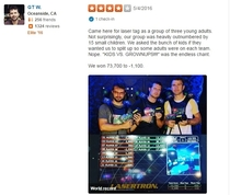 Went to find reviews of the local laser tag arena Found this gem