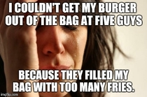 Went to Five Guys for lunch