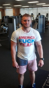 Went to gym thinking it would be dead due to the holiday Nope only more patriotic Meet Alec