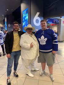 Went to the Toronto Maple Leafs game tonight and met Doug Dimmadome owner of the Dimsdale Dimmadome