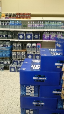 Weve started getting Bud Light in the UK My local supermarket is keeping it next to the water