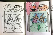 What adults do with coloring books