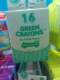 What am i supposed to do with  green crayons