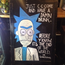 What are you doing Morty Get back in the bar