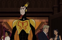 What better way is there to say a candidate is a horrible person than to sneak them into a meeting of supervillains