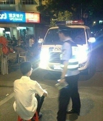 What cops do to you in China if you drive around with high beam