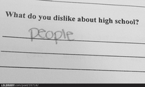 What do you dislike about High school