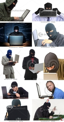 What hackers look like according to stock photo agencies