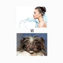 What I think I look like in the shower VS What I really look like