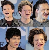 What if one direction didnt have teeth or eyebrows