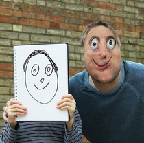 What if your kid drawing your face and if become an actual one haha