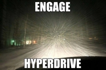 What it feels like driving while its snowing