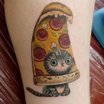 What kind of tattoo do I want I dunno I like cats and pizza