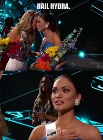 What Miss USA whispered to Miss Philippines