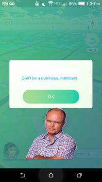 What they really wanted to use for the PokemonGo Safety warnings