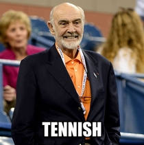 What time does Sir Sean Connery arrive at Wimbledon
