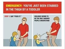 What to do when you get stabbed by a toddler