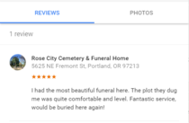 What you look for in a cemetery