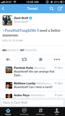What Zach Braff learned from Pornhub