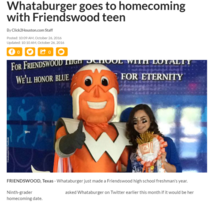 Whataburger went to homecoming