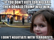 When Hillary supporters threaten you with this one