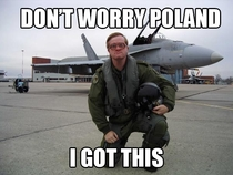 When I heard that Canada is sending six CF-s to Poland to help with regional stability