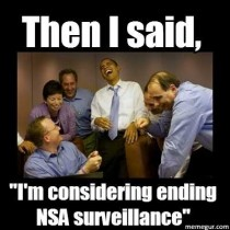 When I saw Obama considering ending NSA surveillance