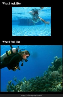 When I swim underwater