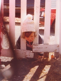 When I was small I got my head stuck in a fence and instead of assisting me my parents ran for the camera This is my earliest memory